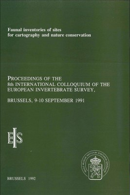 Van Goethem-Faunal inventories of sites for cartography and nature conservation(1992)-cover.jpg