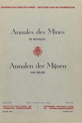 voorpagina 1951-01  Annales des Mines de Belgique.jpg