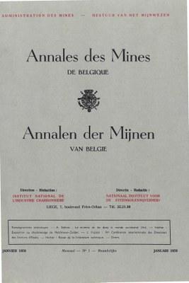 voorpagina 1958_01 Annales des Mines de Belgique.jpg