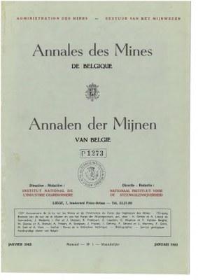 voorpagina 1963_1 Annales des mines de Belgique.jpg