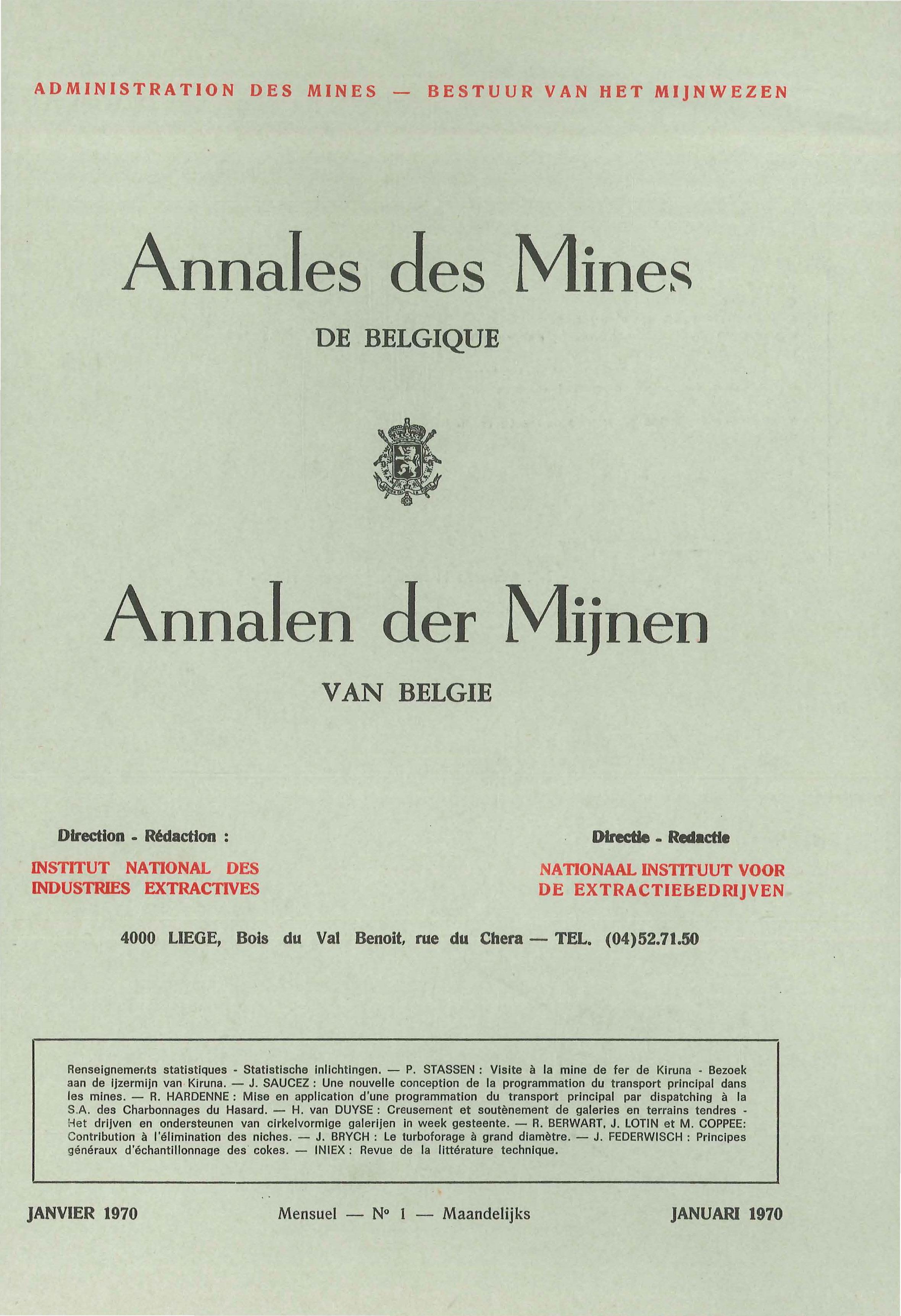 voorpagina 1970 01 Annales des mines de Belgique