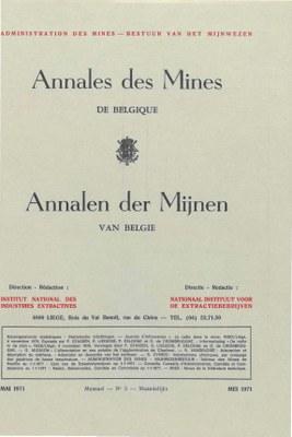 voorpagina 1971 05 Annales des mines de Belgique