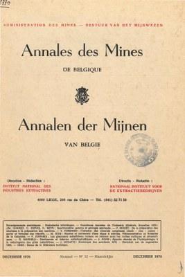 voorpagina 1976 12 Annales des mines de Belgique