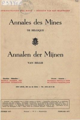 voorpagina 1977 02 Annales des mines de Belgique
