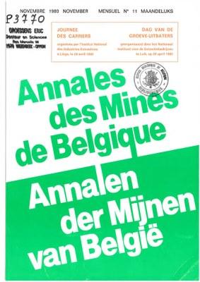 voorpagina 1980 11 Annales des mines de Belgique