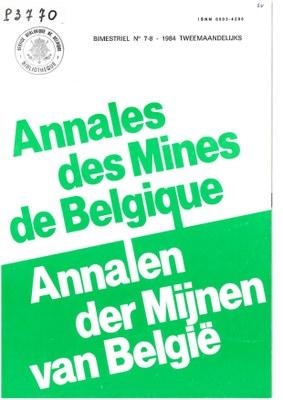 voorpagina 1984 7 8 Annales des mines de Belgique