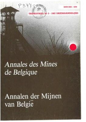 voorpagina 1987 3 Annales des mines de Belgique