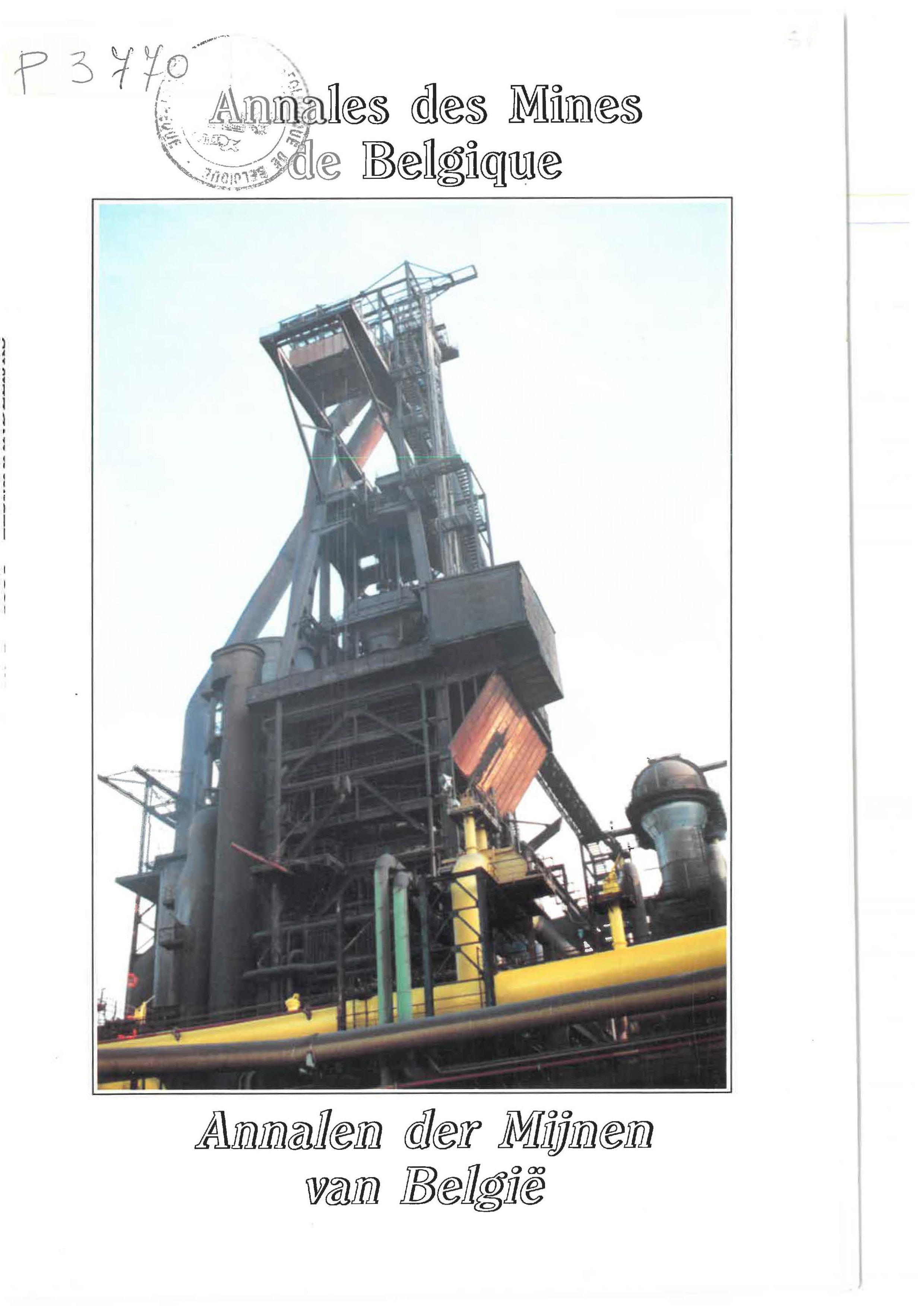 voorpagina 1991 1 Annales des mines de Belgique